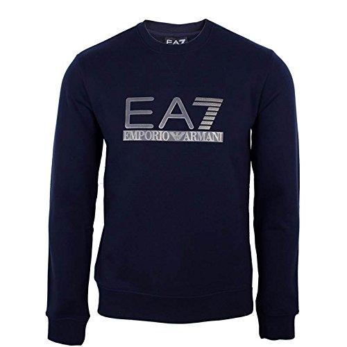 Emporio Armani EA7 tuta uomo fashion completo felpa pantaloni blu EU M (UK 38) 6XPM97 PJ11Z 1578