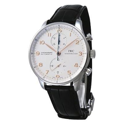 IWC Portuguese Silver Dial Chronograph Mechanical Mens Watch 3714-45