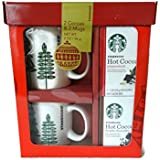 Starbucks Holiday Hot Cocoa and Mugs for Two Gift Set