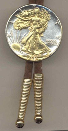 U.S. Walking liberty Silver 0.5 Half dollar tie