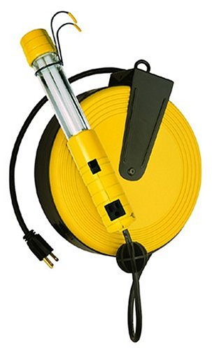 Bayco SL825 13-Watt Fluorescent Work Light with 40-Foot Cord Reel