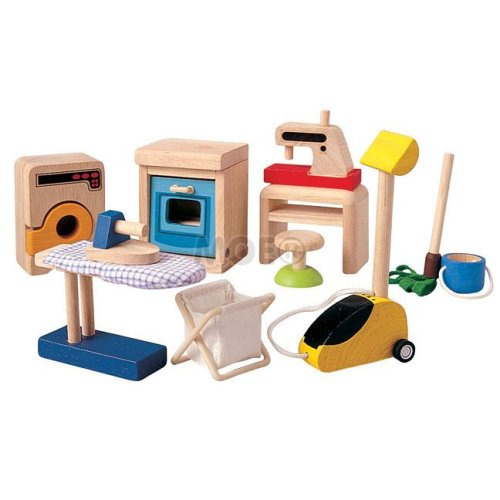 Plan Toys 9410: Household Accessories (Wooden Dollhouse Furniture)