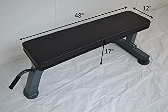 Heavy Duty Flat Bench 1000 Lb Capacity with handle and wheels