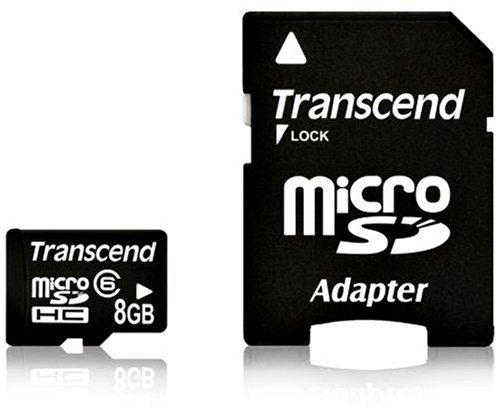 Transcend  8 GB microSDHC Class 6 Flash Memory Card TS8GUSDHC6E