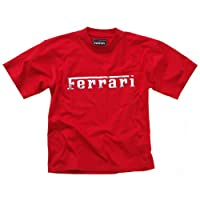 Ferrari Unisex cotton Crewneck tee red S from FERRARI SPA