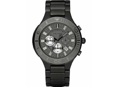 Men's DKNY Chronograph Black IP Watch NY1453