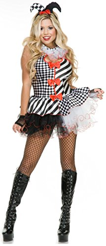 Black and White Jester Adult Costume - X-Small