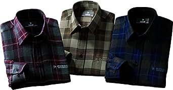 (ベルーナ)BELLUNA (DUNLOP MOTORSPORT)ウール入り暖かシャツ3色組 430197  3色組(ワイン/ブラウン/ネイビー) 1-3L