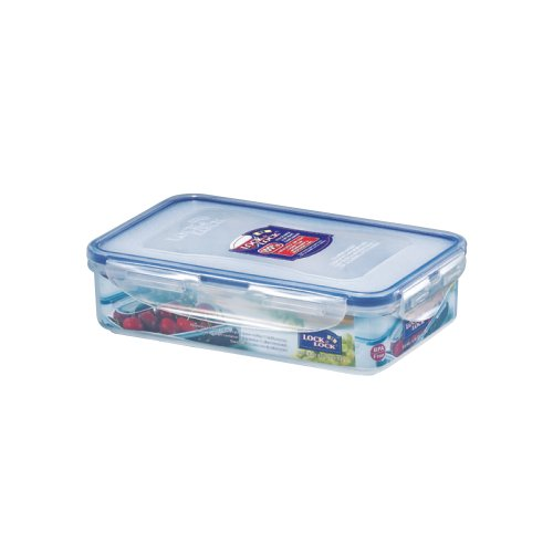 Lock and Lock BPA Free Rectangular Food Container with Leak Proof Locking Lid Short 3 3-Cup 27 Fluid OunceB0000AN4CL
