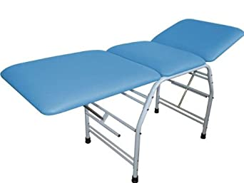 "3B Scientific W15051LB Light Blue Carbon Steel Bi-Lateral Adjustment Treatment Table, 71.5"" Length x 25.5"" Width x 32.5"" Height"