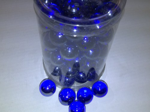 Vase Fillers Tbc Decorative Marbles Cobalt Blue 100 Glass Marbles