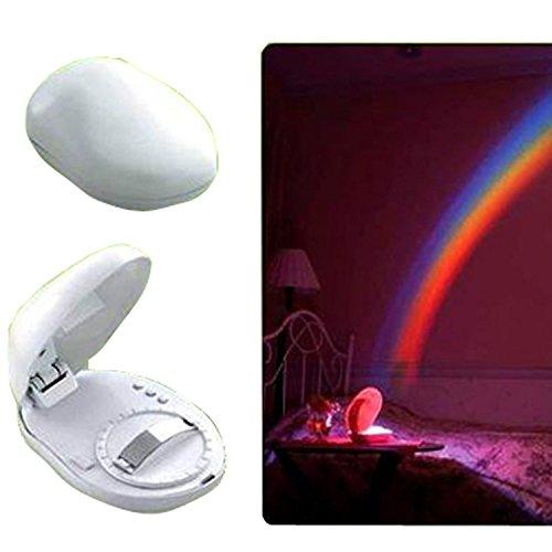 Uumart Led Rainbow Projector Room Night Light W/3 Display Mode