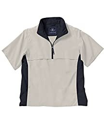 Charles River Apparel 9843 Ace Short Sleeve Windshirt,White Sand/Black,3XL
