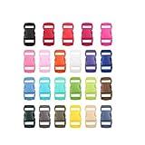 Liroyal 50 pcs Plastic Contoured Side Release Buckles for Paracord Bracelets