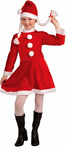 Forum Novelties Deluxe Lil Ms. Santa's Helper Costume, Child Large (Lil Miss Red Costume compare prices)