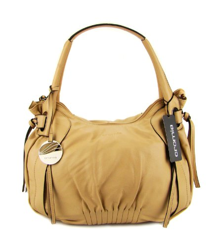 CROMIA Italian Shoulder Hobo Bag in Camel Leather