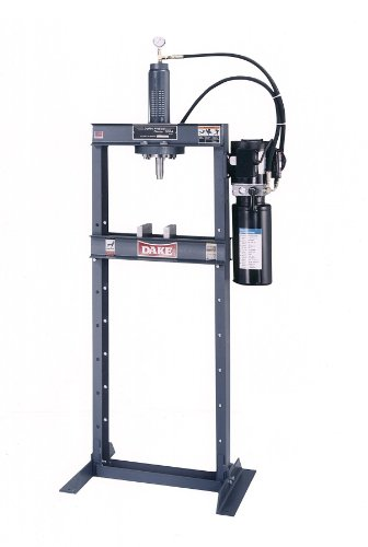 "Dake Force 10Da Model Electrically Operated Hydraulic Dura Press, 10 Ton Capacity, 110V, 1 Phase, 29.75"" Length X 24"" Width X 80"" Height"