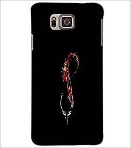 PrintDhaba Drink D-1220 Back Case Cover for SAMSUNG GALAXY ALPHA (Multi-Coloured)