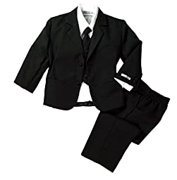 Spring Notion Baby Boys\' Formal Black Dress Suit Set Small / 3-6 Months