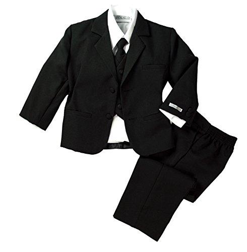 Spring Notion Baby Boys' Formal Black Dress Suit Set Medium / 6-12 Months