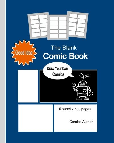 The Blank Comic Book: Great Book With 8 x 10 Inches (20.32 x 25.4 cm) In Size, About The Size Of A4, Is For Create Your Own Comics, Design Sketch And ... Graduation Gift, School Award. (Volume 14) [Hwu, Kevin] (Tapa Blanda)