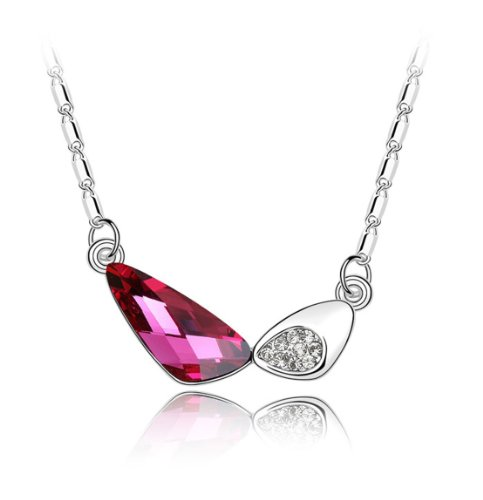Boxingcat Fine Jewelry Swarovski Style Clear Austrian Crystal Pendant Necklaces Bgca4541 front-787318