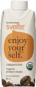 CalNaturale Svelte Organic Protein Drink, Cappuccino, 11 Ounce (Pack of 8)