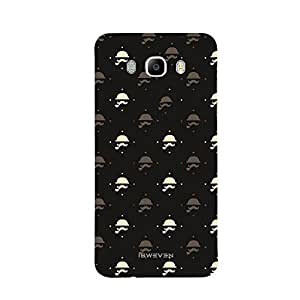 iSweven Printed _samj5_3121 Mustache Design Multicolored Matte finish Back case cover for Samsung Galaxy J5 (2016 Edition)