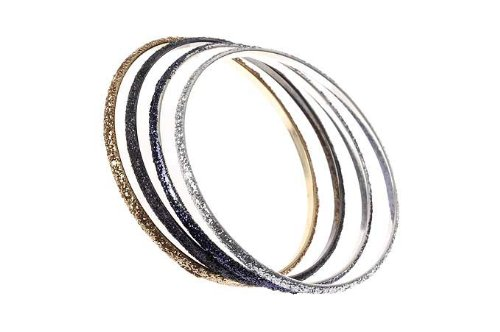 Majique Multi Coloured Glitter Bangles