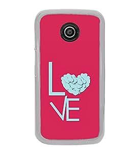 Love Heart 2D Hard Polycarbonate Designer Back Case Cover for Motorola Moto E2 :: Motorola Moto E Dual SIM( 2nd Gen) :: Motorola Moto E 2nd Gen 3G XT1506 :: Motorola Moto E 2nd Gen 4G XT1521