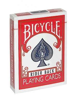 Bicycle playing cards rider back blue red (2 colors, not the color)