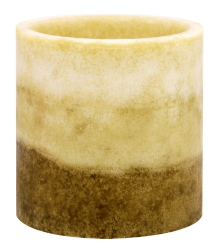 Kiera Grace Tri-Layer Led Pillar Candle With Timer, 4 By 4-Inch, Citrus And Sage Fragrance