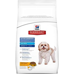 Hill's Science Diet Adult 7+ Active Longevity Small Bites Dry Dog Food Bag, 33-Pound