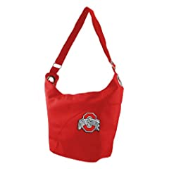 NCAA Ohio State Buckeyes Ladies Color Sheen Hobo Purse, Red by Littlearth