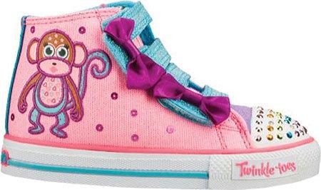 Skechers Kids 10438N Twinkle Toes Shuffles Sneaker Pink/Multi 5 M Us Toddler front-279196