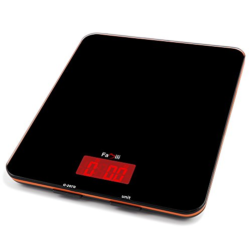 Famili Digital Kitchen Food Scale Electronic Weight Scale 11lbs 0.1oz, Black (Electronic Weight Kitchen compare prices)