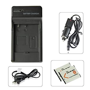 Lenoge® brand new SONY NP-BN1 replacement battery charger for CASIO: Exilim EX-S300 EX-Z31 EX-Z680 EX-Z690 EX-ZS10 EX-ZS10BE EX-ZS10BK EX-ZS10PK EX-ZS10RD, pack with US power cord,NP-BN1 battery and car charger