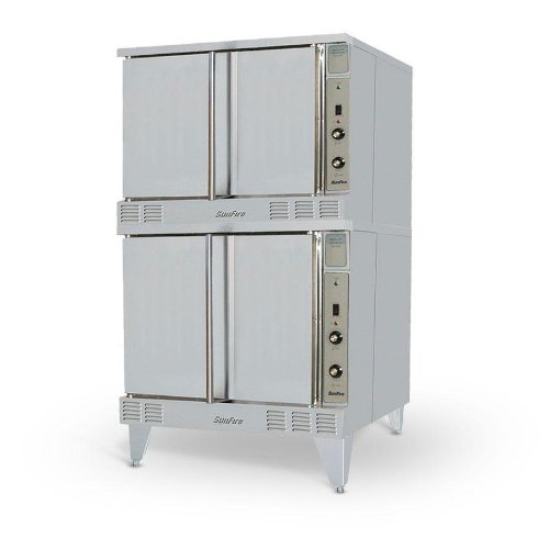 Natural Gas Garland Sco-Gs-20S Sunfire Gas Double Deck Convection Oven With 2 Speed Fan And Interior