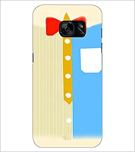 PrintDhaba Ribbon D-4802 Back Case Cover for SAMSUNG GALAXY S7 (Multi-Coloured)