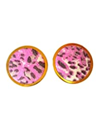 KMagnaccs Fashion Purple Animal Print Stud Earrings For Women