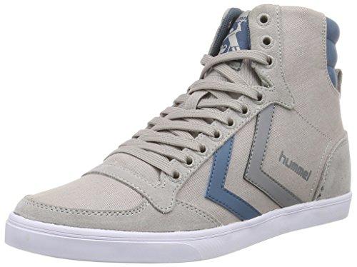 Hummel HUMMEL SL STADIL CANVAS HI, Sneaker alta Unisex - adulto, Grigio (Grigio (Dove 1018)), 41