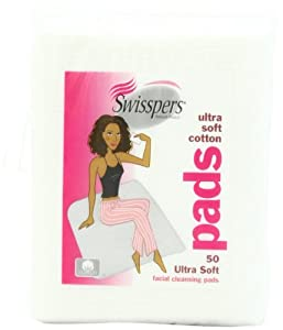 Swisspers Premium Cotton Facial Cleansing Pad, 50-Count (Pack of 6)