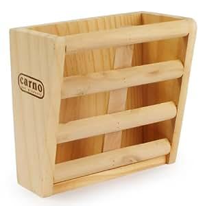 Porta alfalfa / comedero de madera para conejos, cobayas, chinchillas, etc.