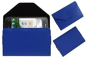 Acm Premium Pouch Case For Lenovo A830 Flip Flap Cover Holder Blue