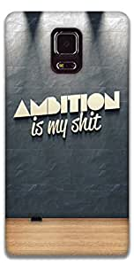 The Racoon Grip printed designer hard back mobile phone case cover for Samsung Galaxy Note 4. (ambition)