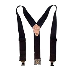 Perry Products SN200 Men's Clip-On 2-in Suspenders Black X-Large