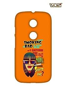 VDESI Designer Matte Back Cover For Motorola Moto E (2 Gen)-11540058
