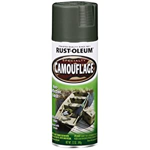 Rust-Oleum 1919830 Camouflage Spray, Deep Forest Green, 12-Ounce