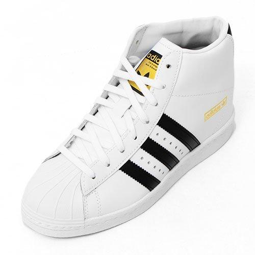 adidas(アディダス) オリジナルス インヒール スニーカー Superstar Up W レディース 24.5cm ホワイト/ブラック ss-up-w-245-M19513