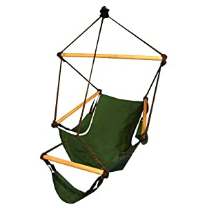 Hammaka 1032-HMKA Cradle Chair, Green, Wood by Hammaka
